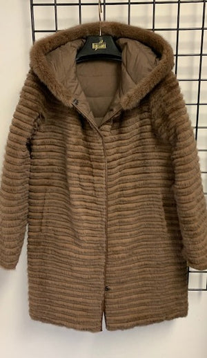 Load image into Gallery viewer, 66M Reversible Mink coat to Down  Last one $1995  now $550 size XS  SOLDOUT