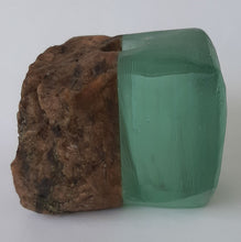 Load image into Gallery viewer, Stone and Recycled Glass Vases