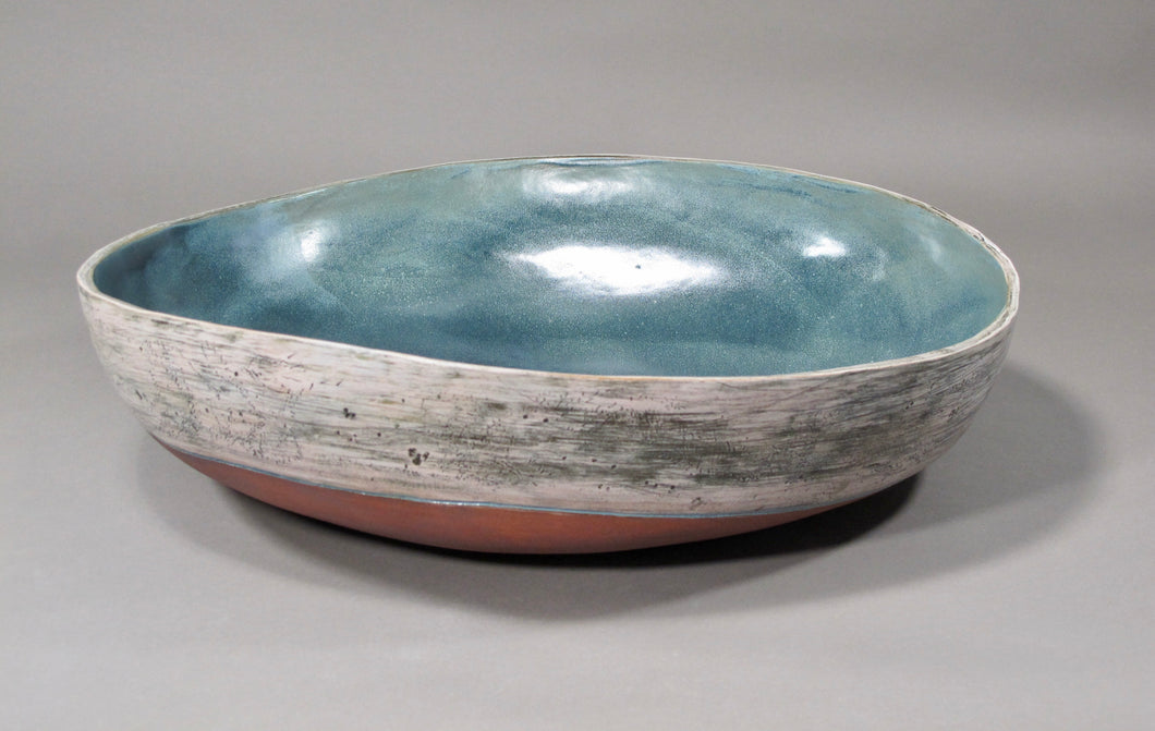 Big Blue Stoneware Bowl