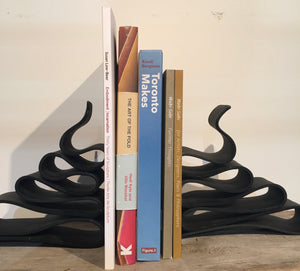 Hand-Forged Steel Bookends