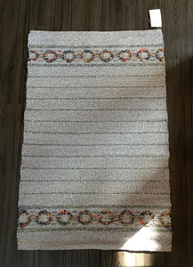 Handloomed linen rug