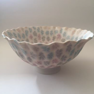 Nerikomi Porcelain Flower Bowl