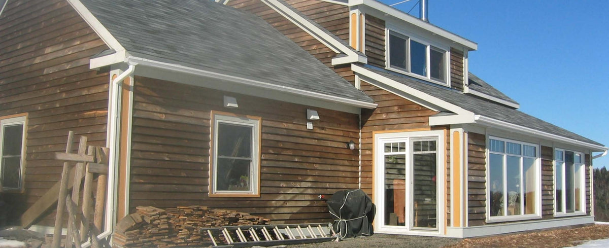 A passive solar house in Lunenburg Nova Scotia
