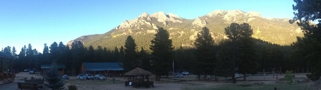 panoramic shot of conference site in Colorado Rockies