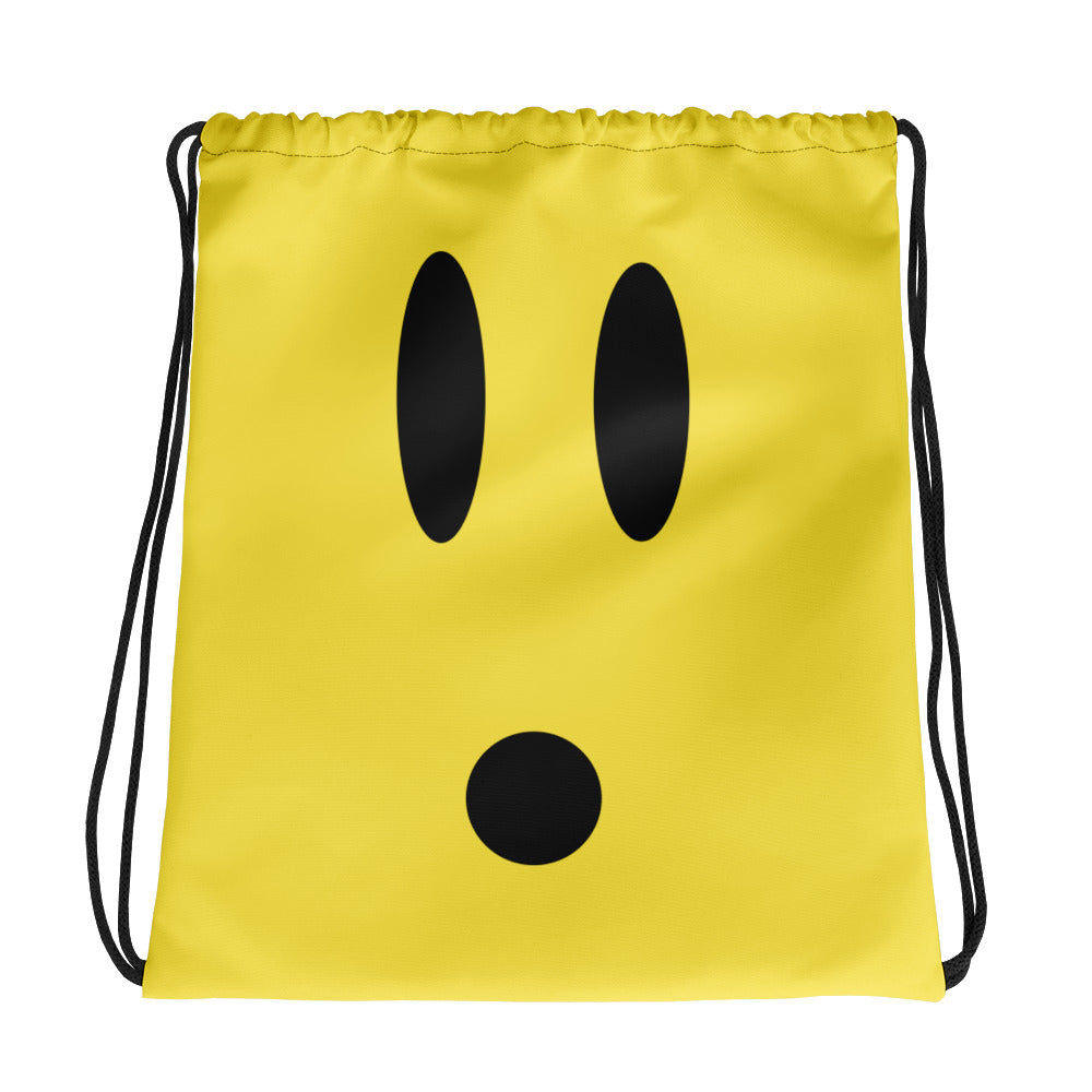 Surprised Drawstring Bag by #unicorntrends