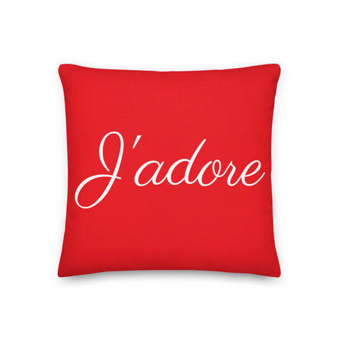 J'adore Premium Pillow by #unicorntrends