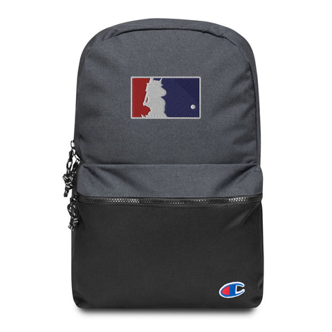 Unicorn Baseball Embroidered Champion Backpack by Sovereign