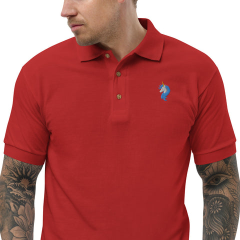 Logo Embroidered Polo Shirt by #unicorntrends