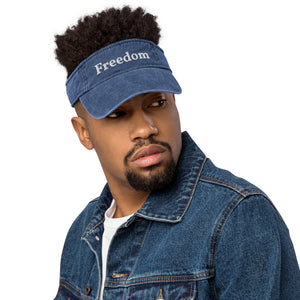 Freedom Denim visor by #unicorntrends