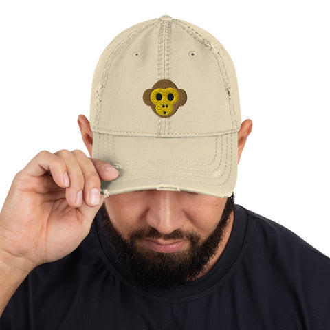 Monkey Distressed Dad Hat by #unicorntrends