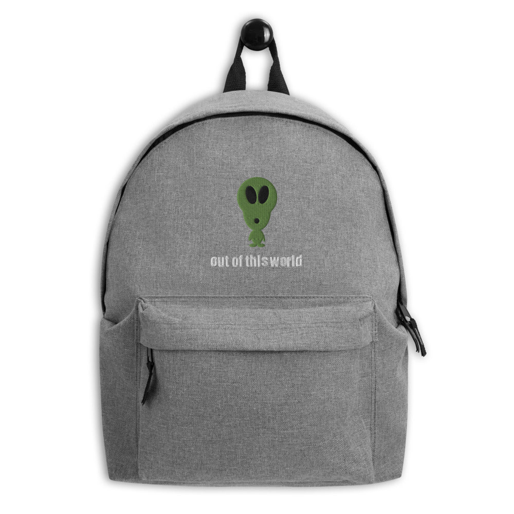 Alien Embroidered Backpack by #unicorntrends