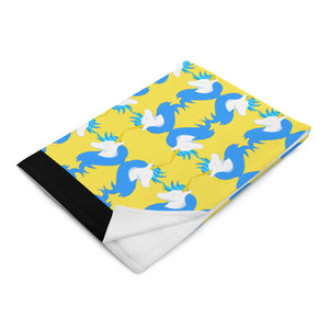 Unicorns and Stuff Logo Throw Blanket by #unicorntrends