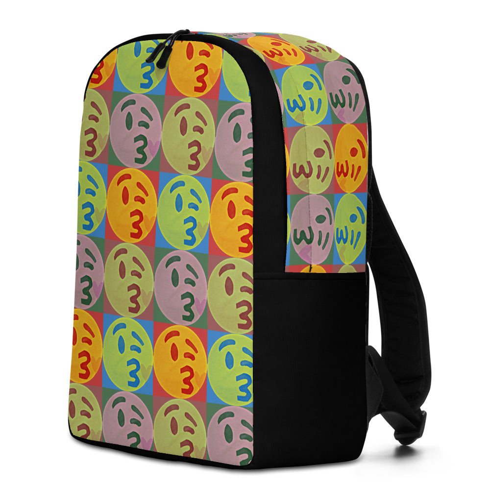 Kissy Face Emoji Pop Art Backpack by #unicorntrends