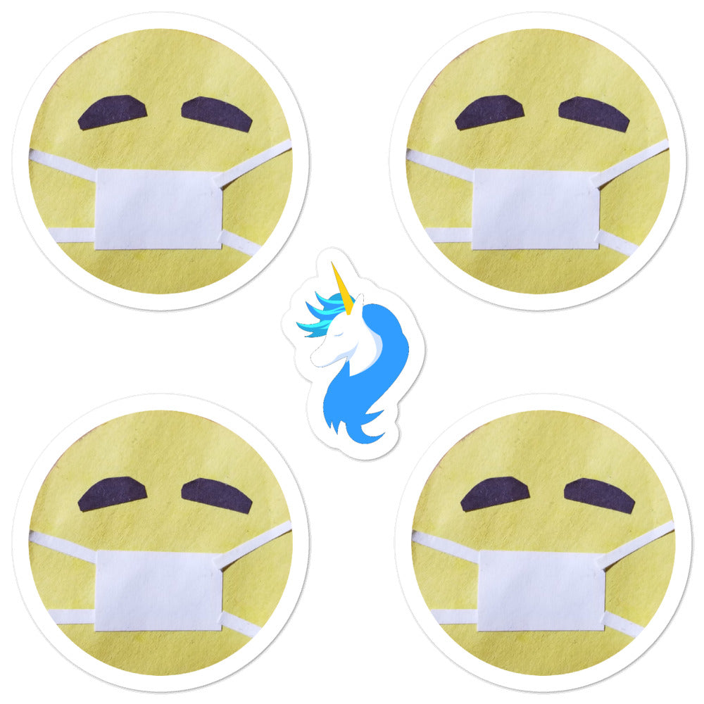 Face Mask Sticker Set by #unicorntrends