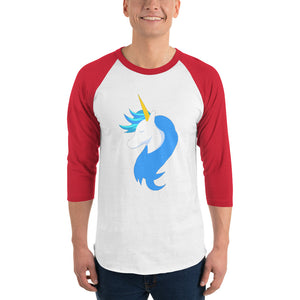 Logo 3/4 Sleeve Shirt by #unicorntrends
