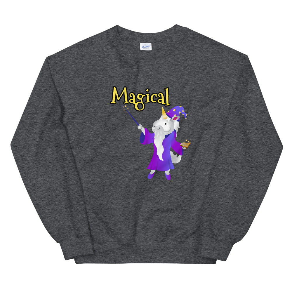 Magical Unicorn Wizard Sweat Shirt by Sovereign