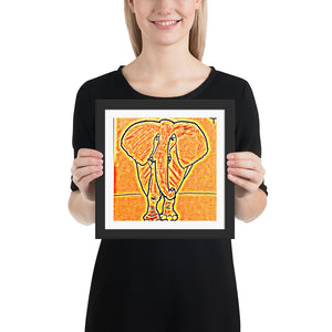 Things that Rhyme with Orange Elephant 10x10 Framed Poster