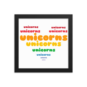Sovereign Heart of Unicorns 10x10 Framed Poster