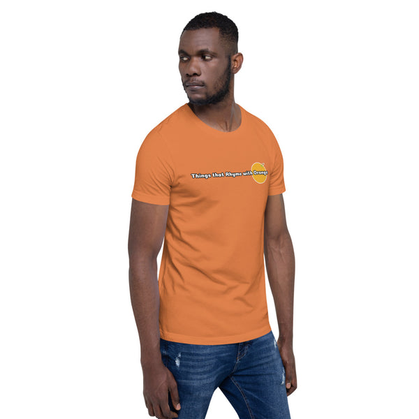 Things that Rhyme with Orange Fundraising T-shirt