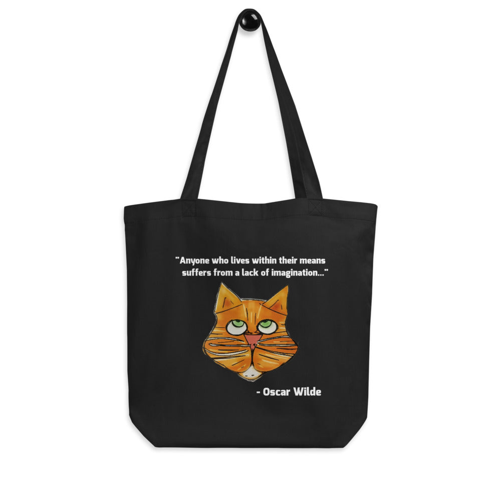Live Within Your Means Oscar Wilde Eco Tote Bag by #unicorntrends