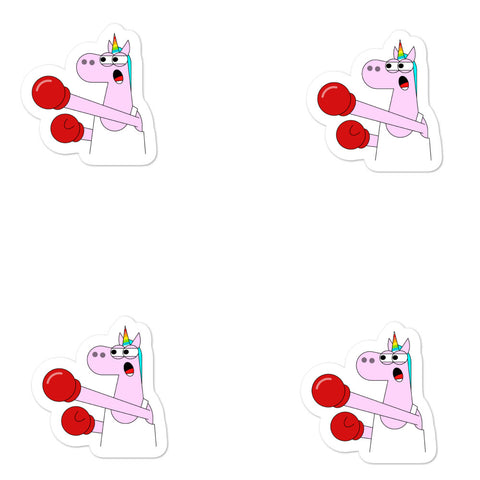 Boxing Unicorn Stickers by Be A Unicorn