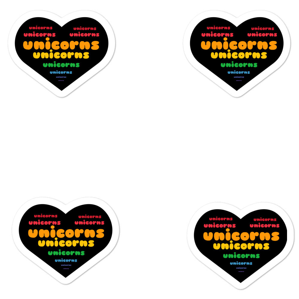 Heart Unicorns Stickers by Sovereign