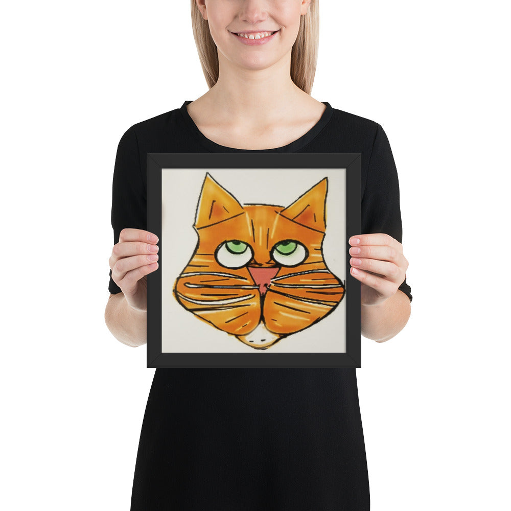 Things that Rhyme with Orange Cat 10x10 Poster