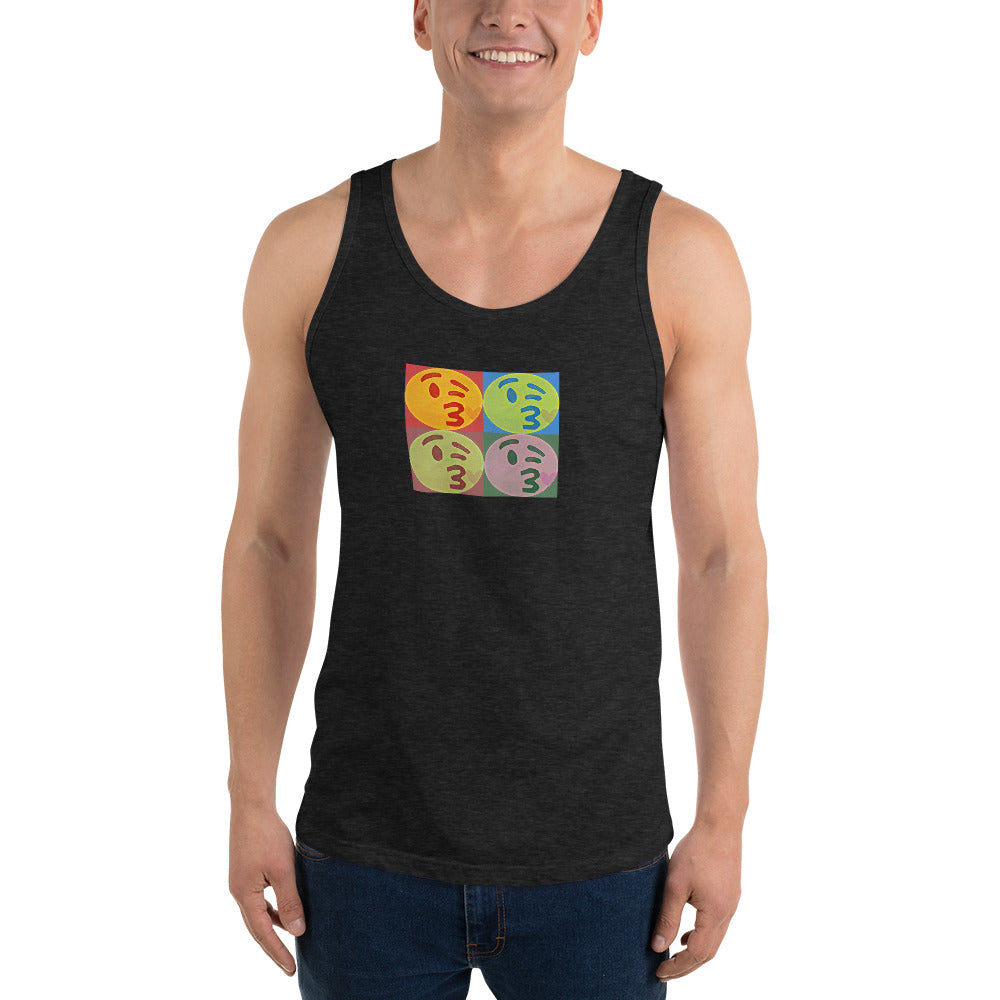 Kissy Face Pop Art Unisex Tank Top by #unicorntrends