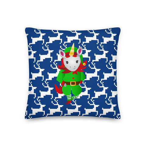 Merry Christmas Santa's Unicorn Helper Premium Pillow