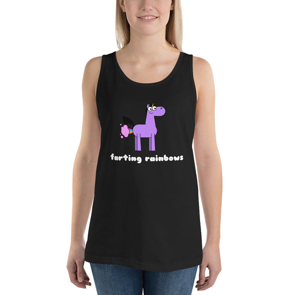 Farting Rainbows Unicorn Tank Top by Be A Unicorn