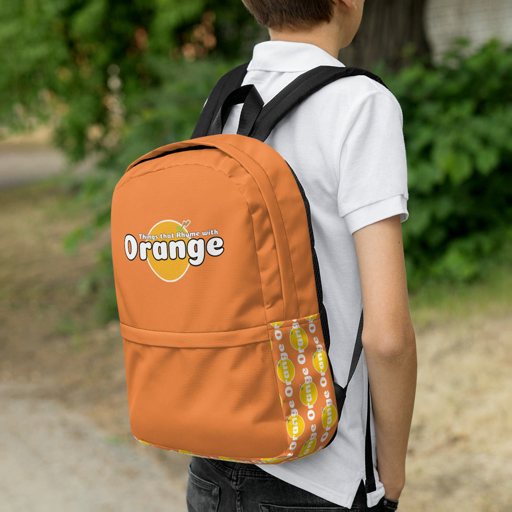Things that Rhyme with Orange Backpack