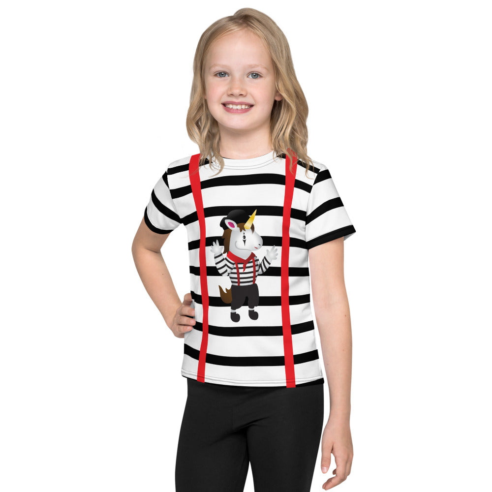 Mime Unicorn Kids T-Shirt by Sovereign