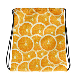 Things that Rhyme with Orange Drawstring Bag