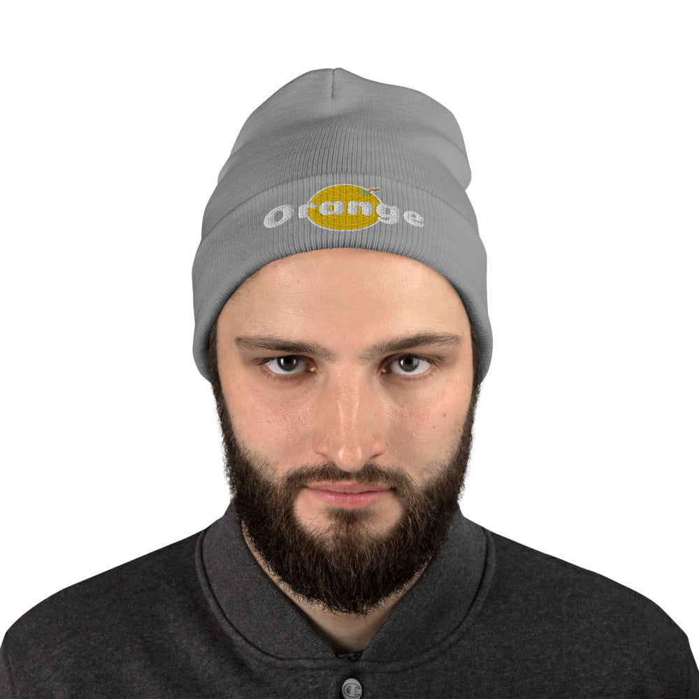 Things that Rhyme With Orange Embroidered Beanie