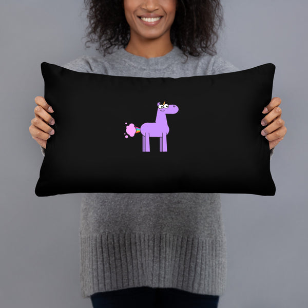 Unicorn Farts Decorative Pillow by Be a Unicorn