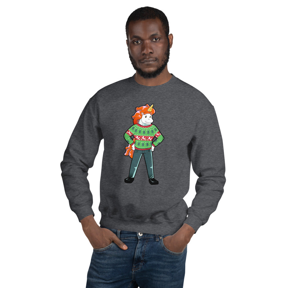 Ugly Christmas Sweater Unicorn Sweatshirt by #unicorntrends