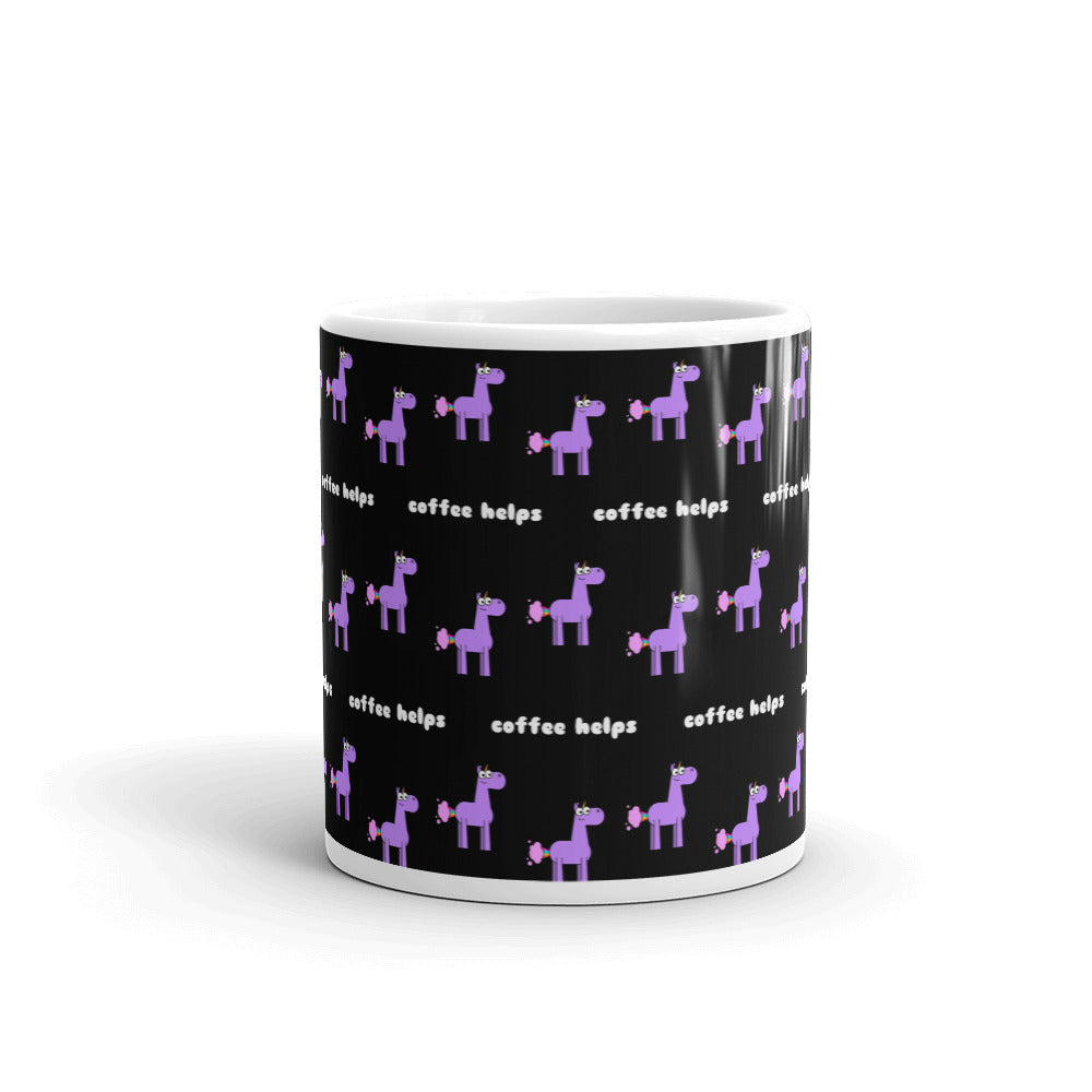 Coffee Helps Unicorn Farts Mug by Be a Unicorn