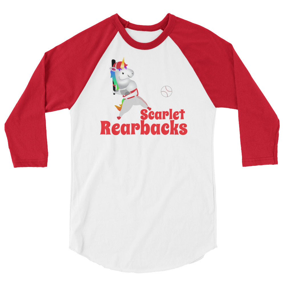 "Sovereign Unicorn Baseball League ""Scarlet Rearbacks"" Team Shirt"