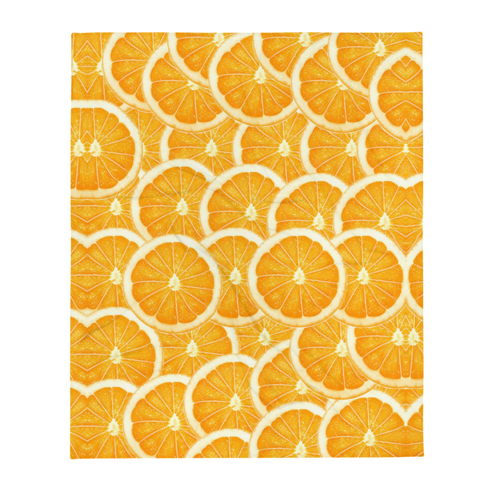 Things that Rhyme with Orange Throw Blanket
