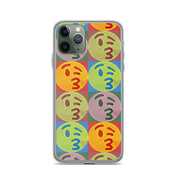 Kissy Face Pop Art iPhone Case by #unicorntrends