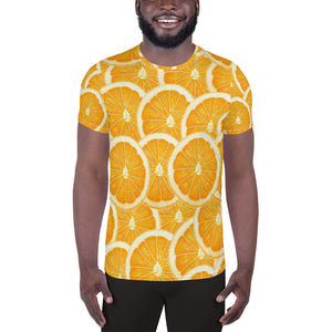 Things that Rhyme With Orange All-Over Print Men's Athletic T-shirt