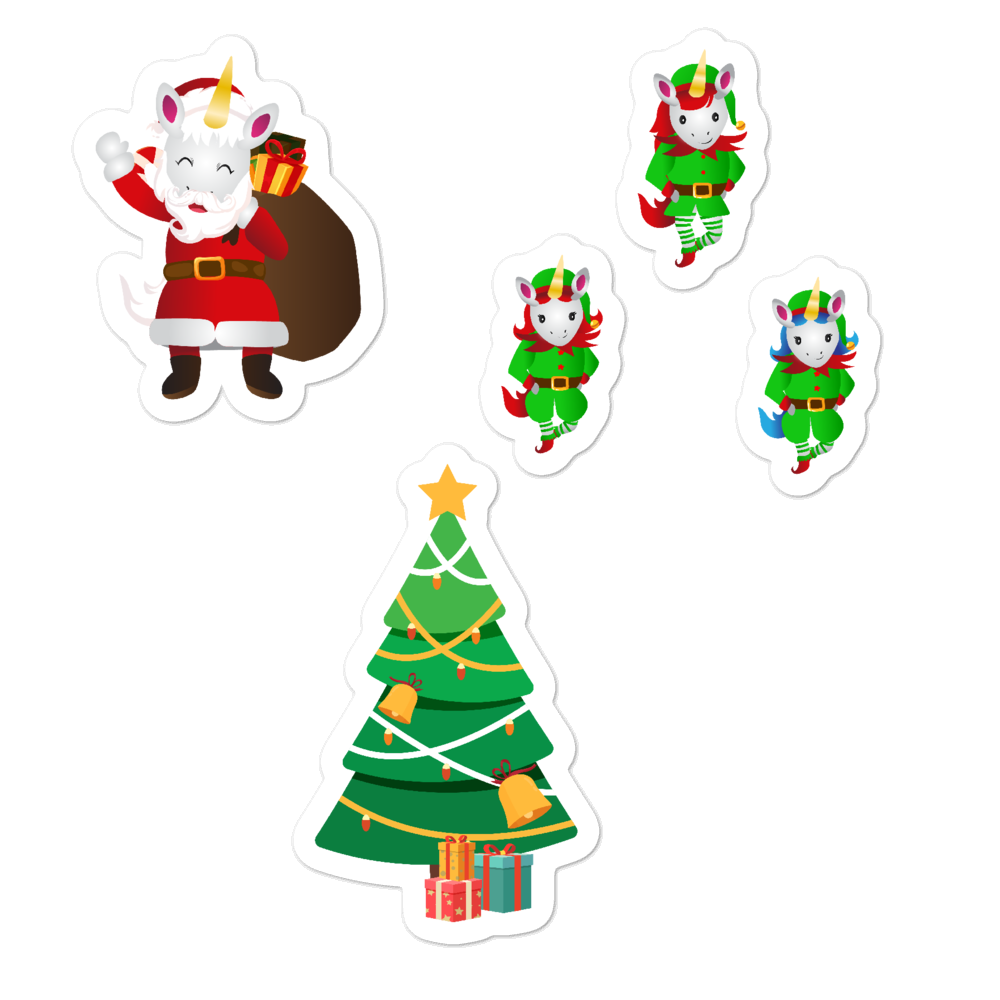 Christmas Unicorn Sticker Set by Sovereign