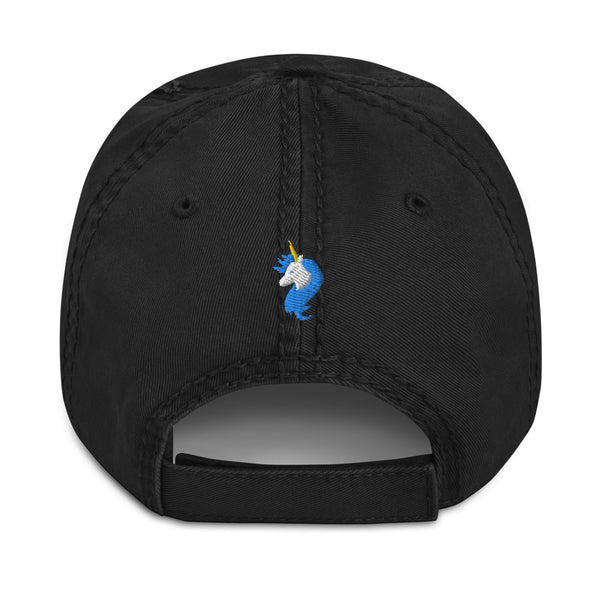 Kissy Face Distressed Dad Hat by #unicorntrends