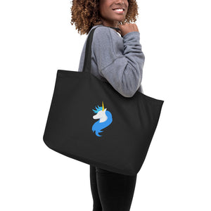 Social Distancing Large Organic Tote Bag by Sovereign