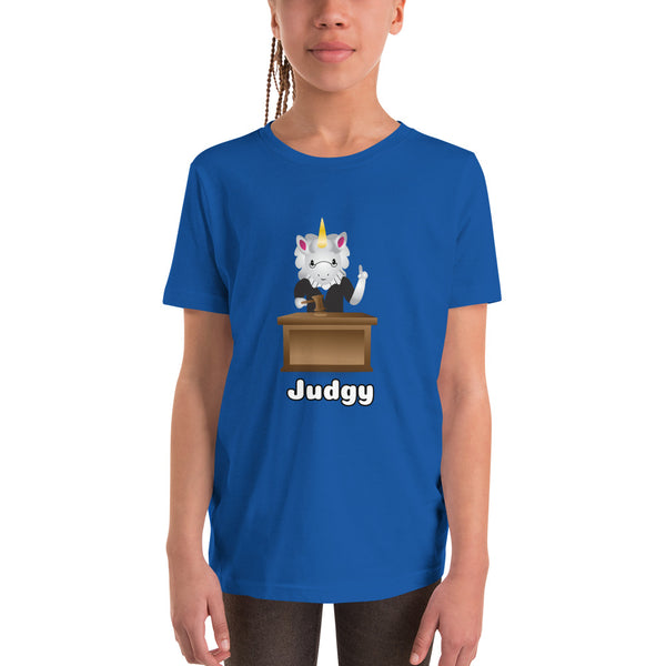 Judgy Unicorn Youth T-Shirt by Sovereign