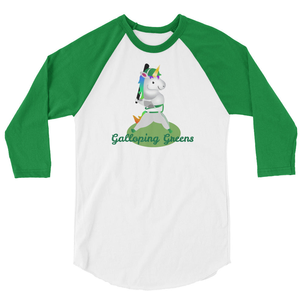 "Sovereign Unicorn Baseball League ""Galloping Greens"" Team Shirt"