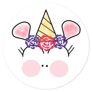 Basic Party Time Unicorn 5.5x5.5 Sticker by #unicorntrends