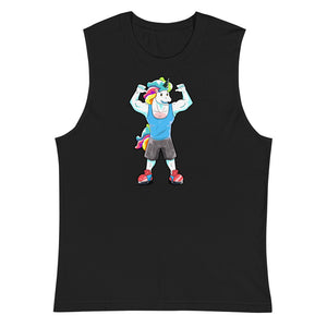 #unicorntrends Unicorns are Imaginary, but Gains are Real Muscle Shirt