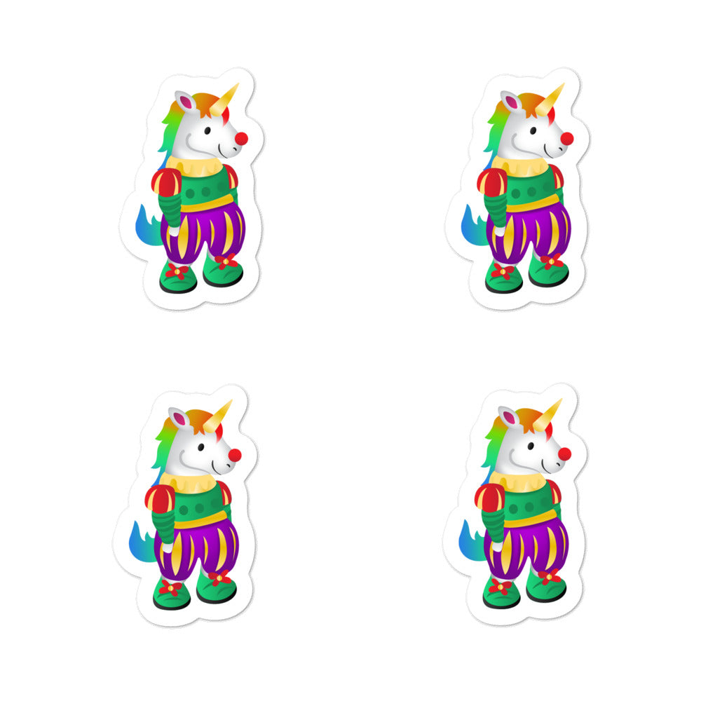 Unicorn Clown Stickers by Sovereign