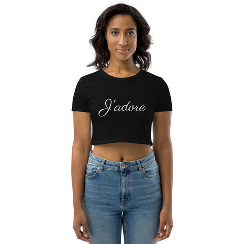 J'adore Organic Crop Top by #unicorntrends